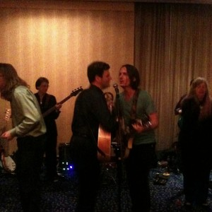 Glen and I singing some old Beatles classics...