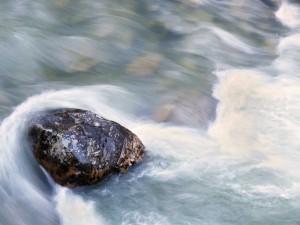 (8:14) Rock in water